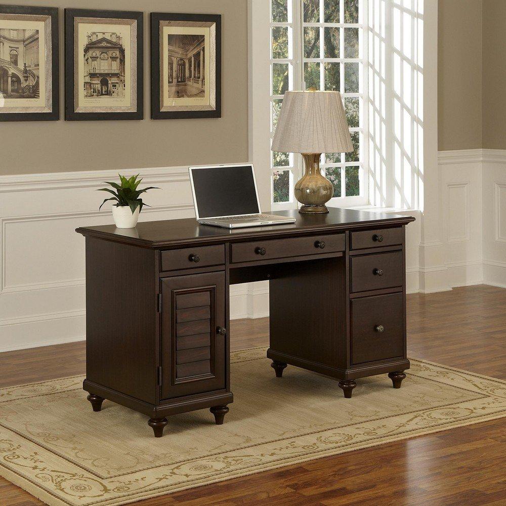 Bermuda Espresso Pedestal Desk | Home Styles