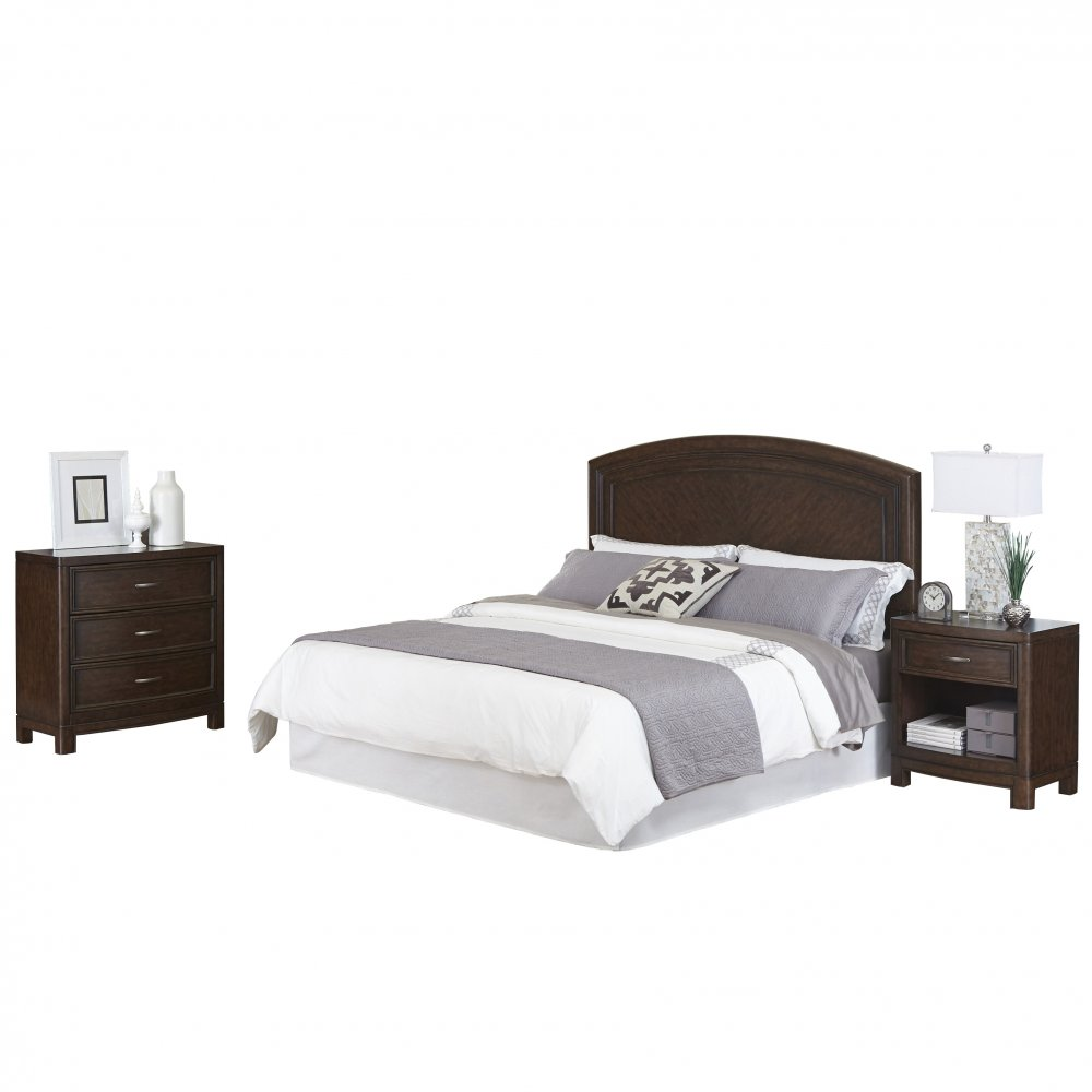 Crescent Hill King Headboard Nightstand And Chest Homestyles