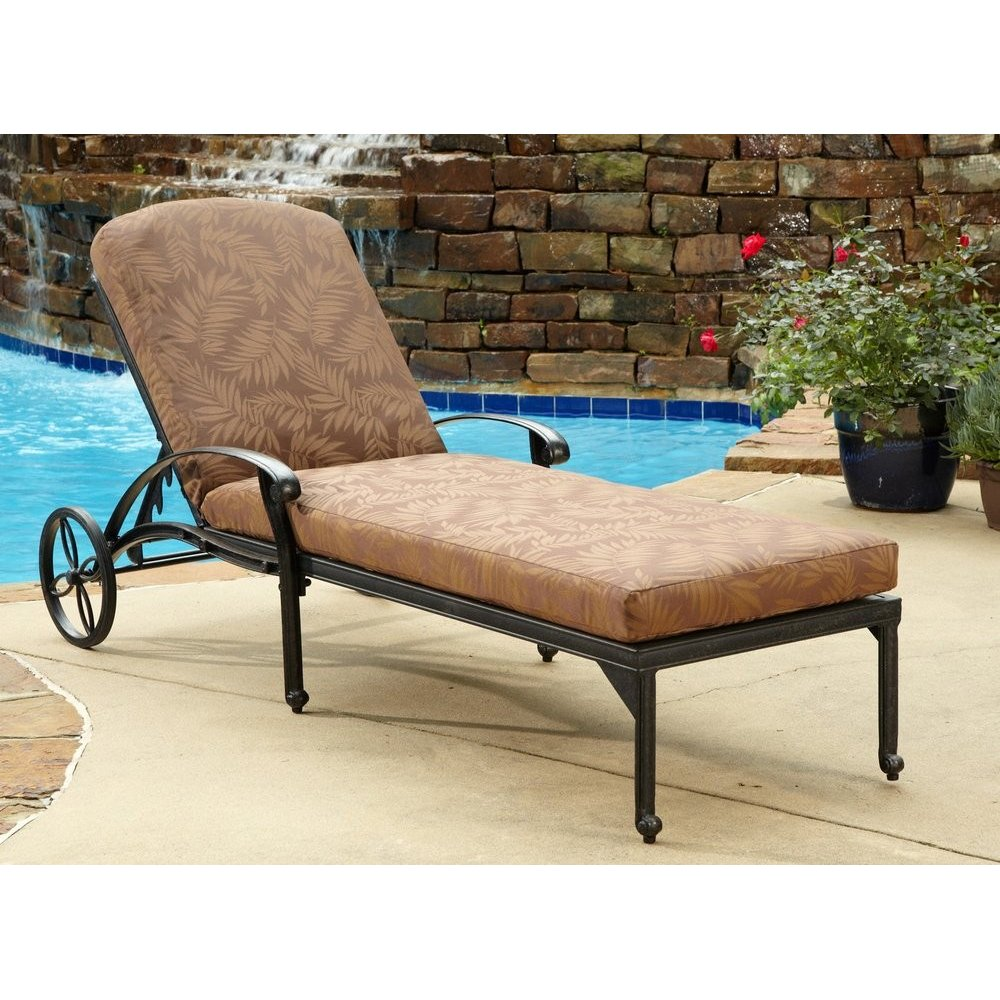Floral Blossom Chaise Lounge Chair W Cushion Home Styles