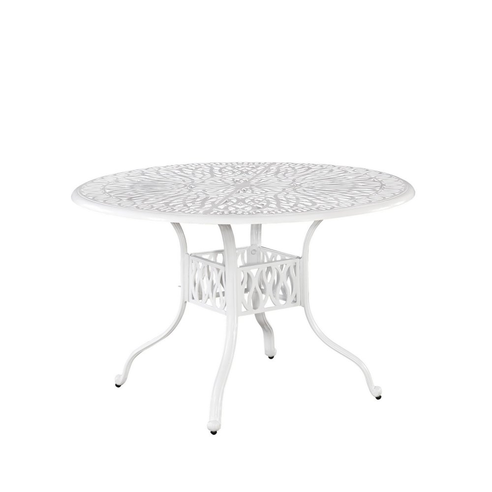 Floral Blossom White Inch Round Dining Table Homestyles - 48 inch round white dining table