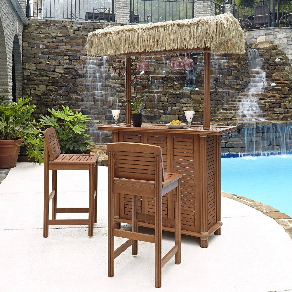 Peachy Bali Hai Tiki Bar And Two Stools Home Styles Ncnpc Chair Design For Home Ncnpcorg