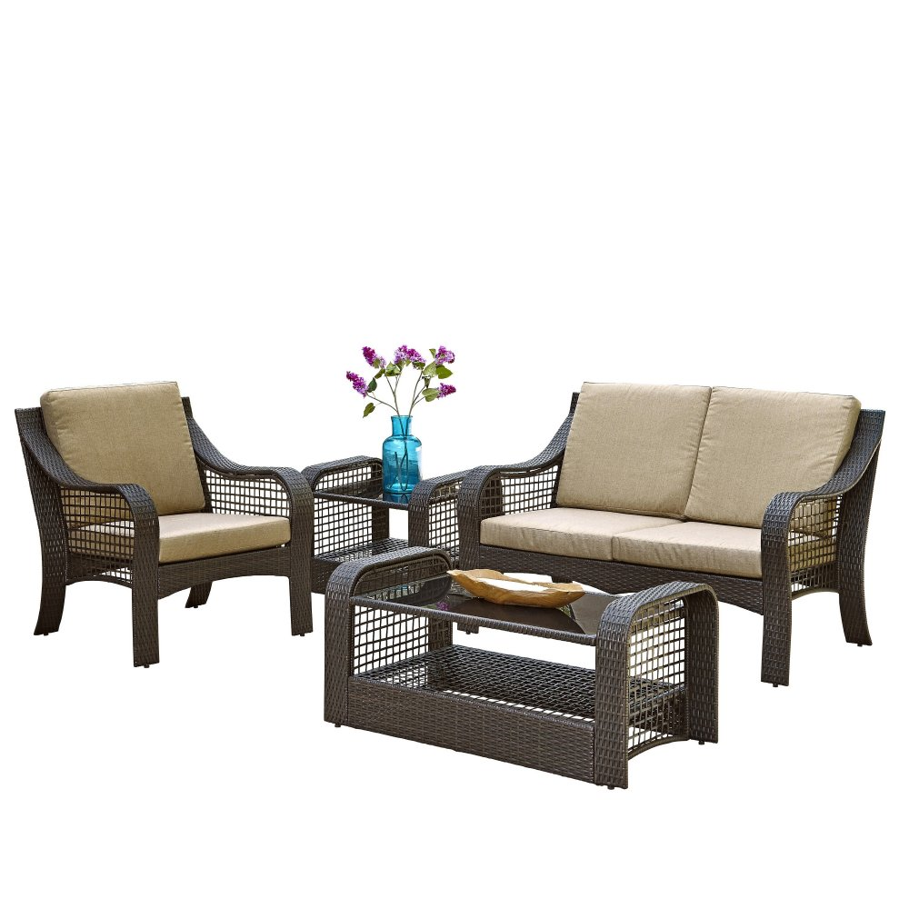 Lanai Breeze Loveseat Accent Chair End Table And Coffee Table Homestyles