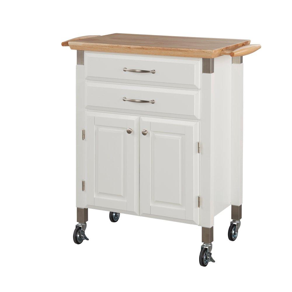 Dolly Madison White Kitchen Cart | Homestyles