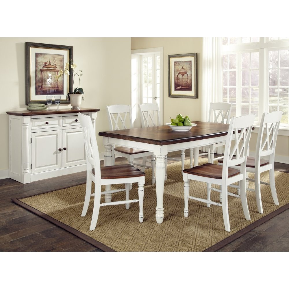 Monarch Rectangular Dining Table and Six Double X-back Chairs ...