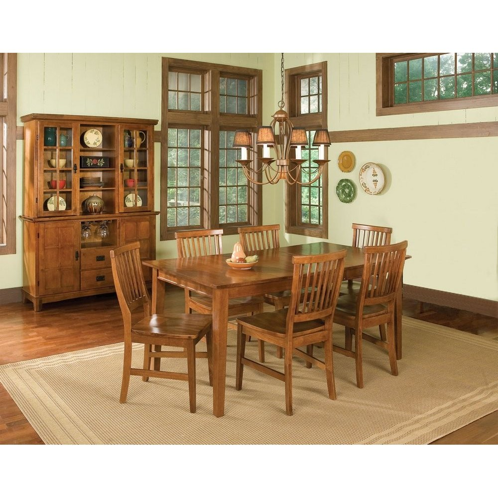 Arts crafts buffet and hutch cottage oak finish homestyles for Homestyles com