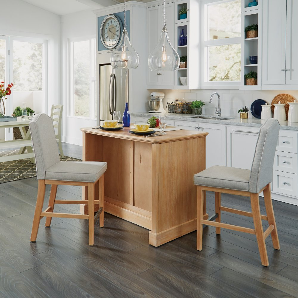 Cambridge Kitchen Island with Two Stools 5170-948