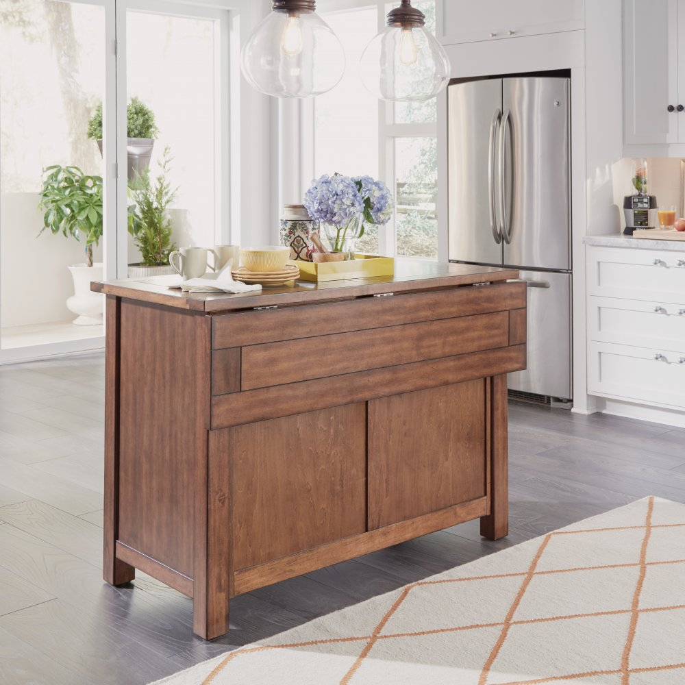 5412-94Q Tahoe Kitchen Island with Quartz Top
