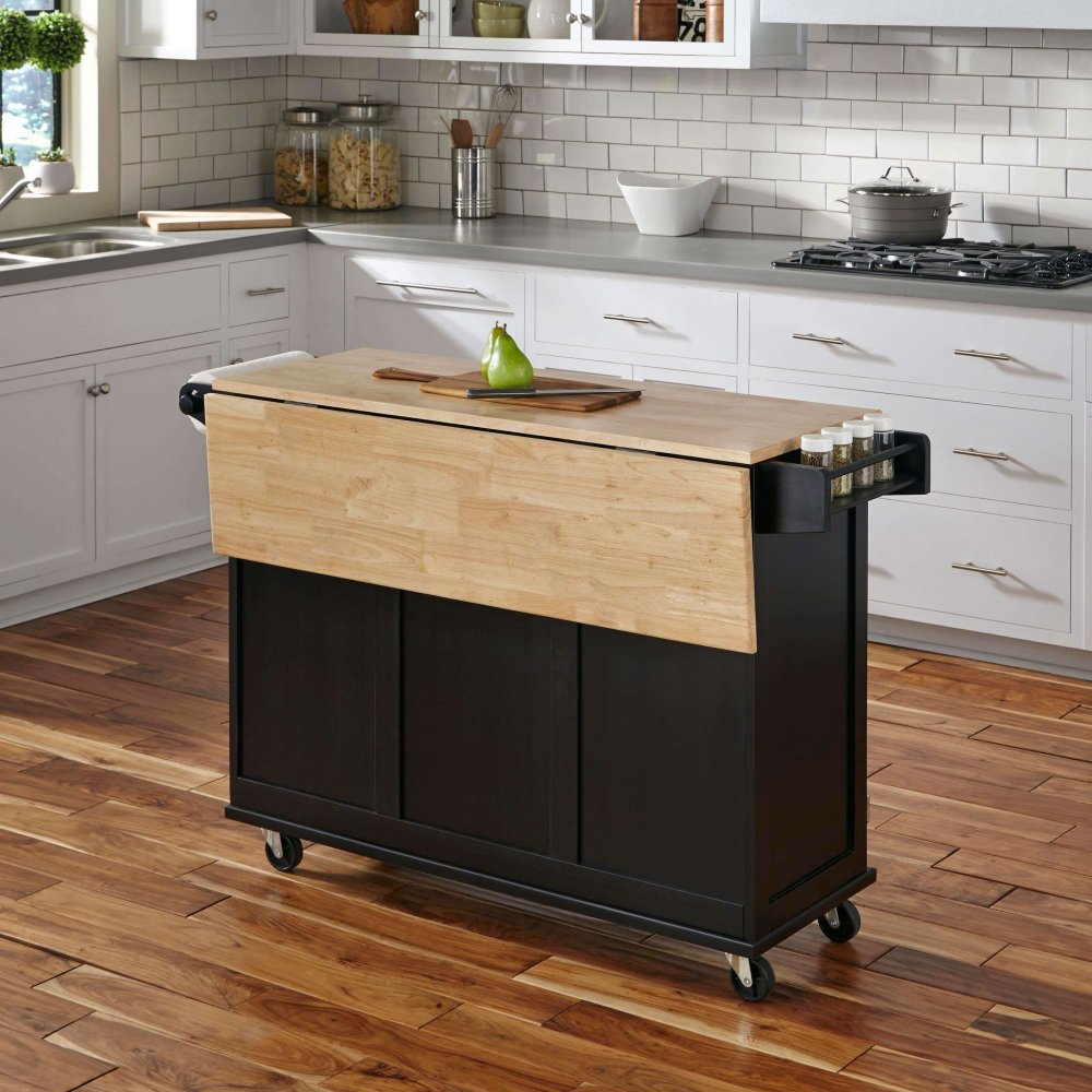Liberty Kitchen Cart With Wood Top Home Styles