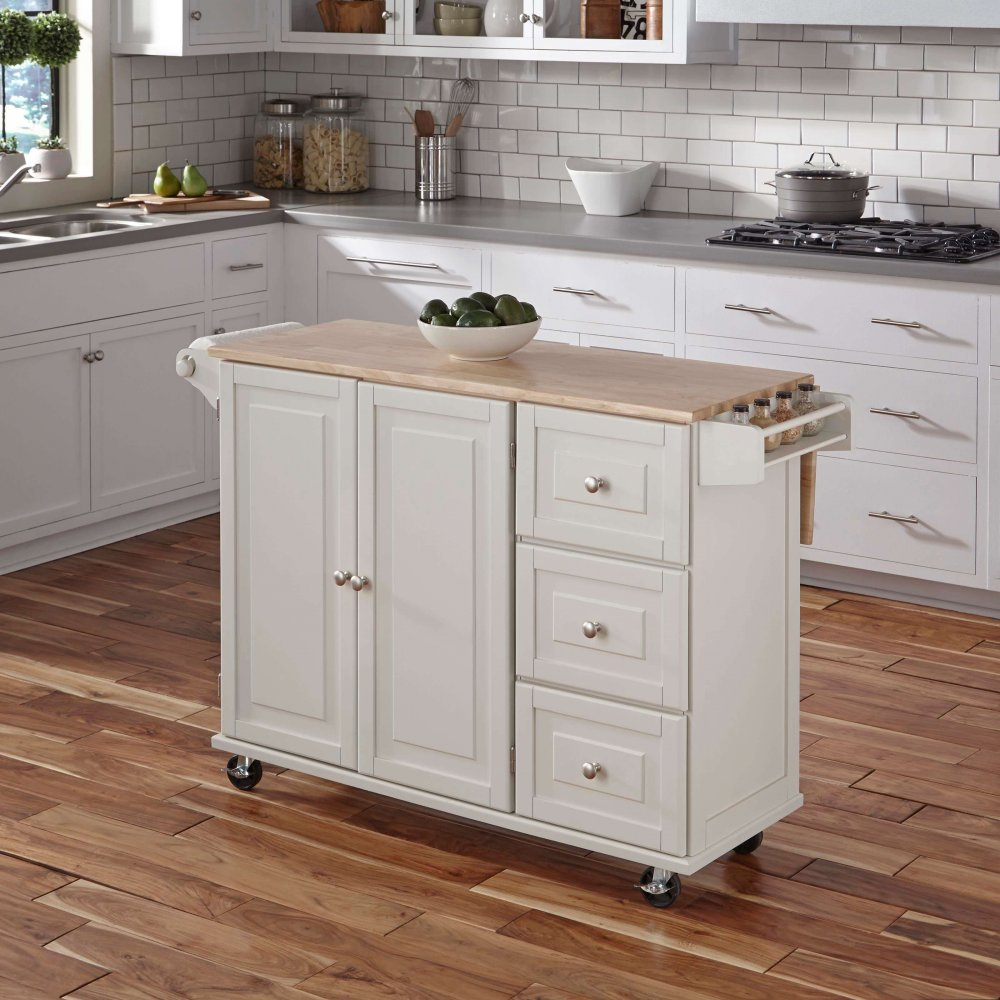 Liberty Kitchen Cart w/ Wood Top | Homestyles