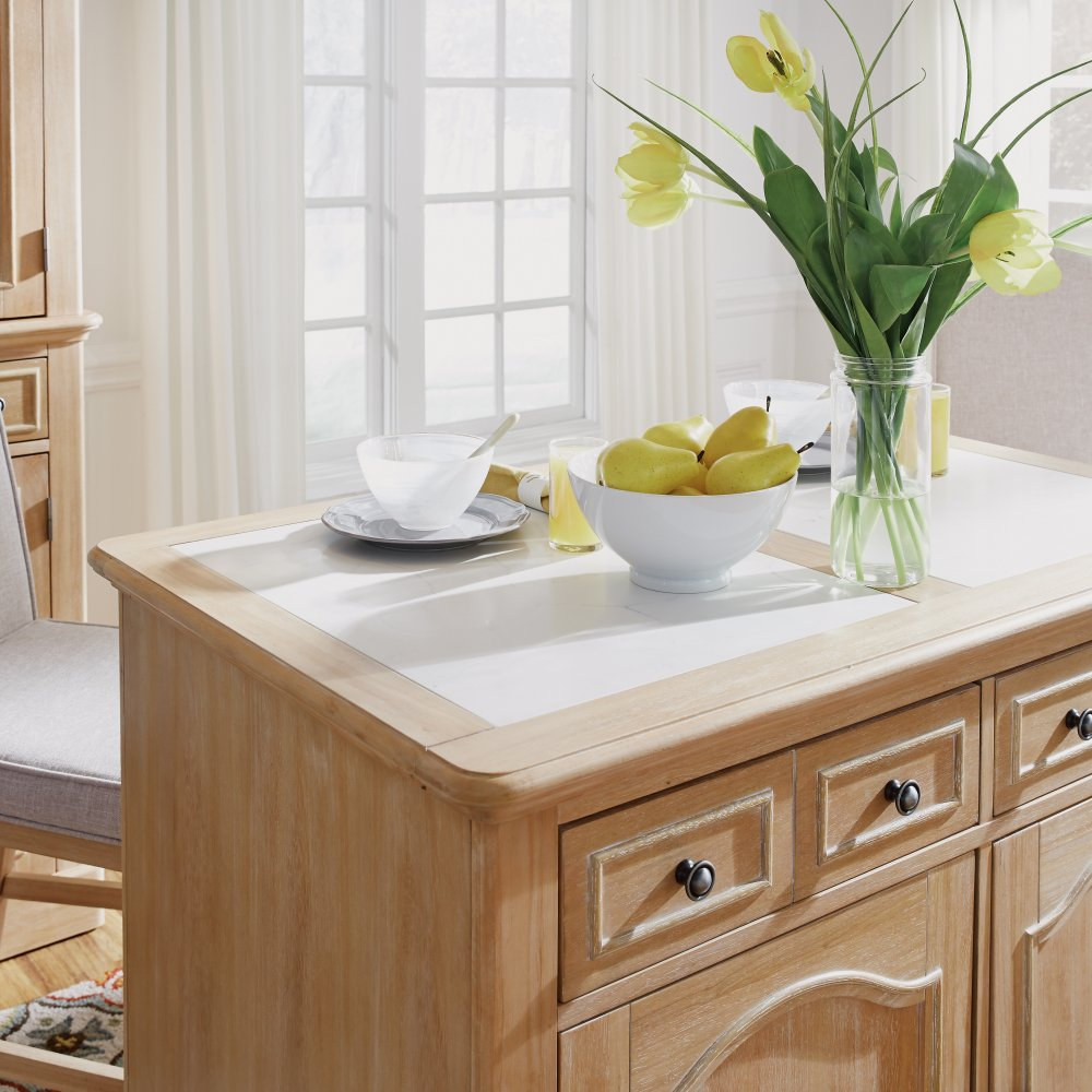 Cambridge Kitchen Island with Quartz Top 5170-94Q