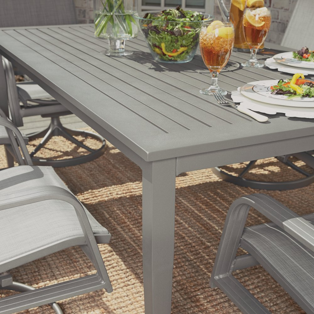 5702-31 Daytona Rectangular Outdoor Dining Table, Shown with 5702 Chairs Sold Separately