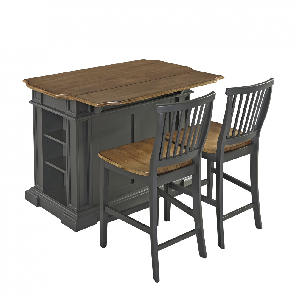 americana kitchen island with 2 stools homestyles kitchen island black and distressed oak homestyles