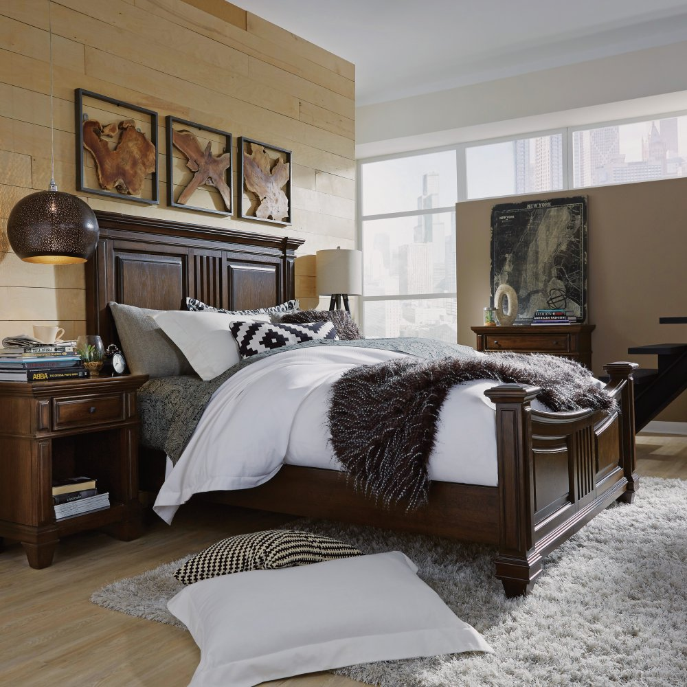 Prairie Home Queen Bed Two Nightstands And Chest Home Styles