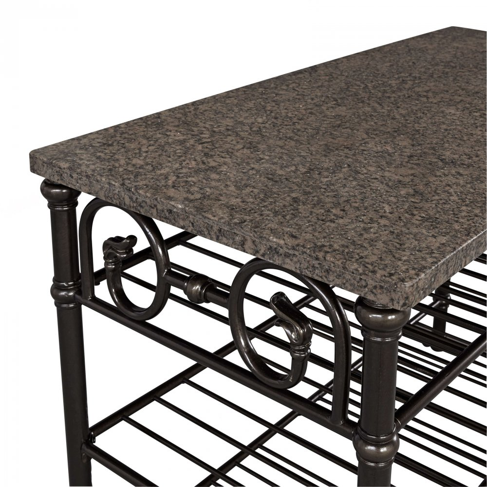 Richmond Hill Kitchen Island with Quartz Veneer Top 5062-94