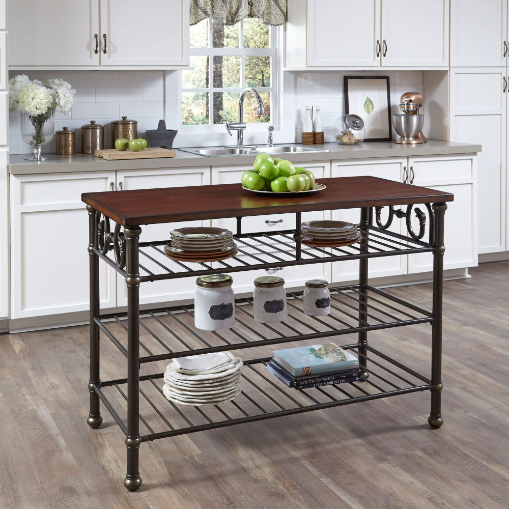 Richmond Hill Kitchen Island with Wood Top | Home Styles