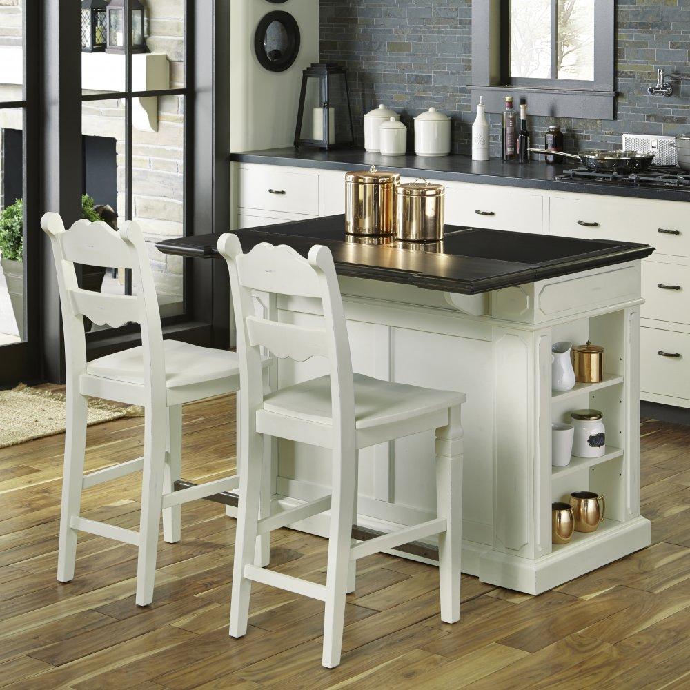 fiesta granite top kitchen island with 2 stools homestyles