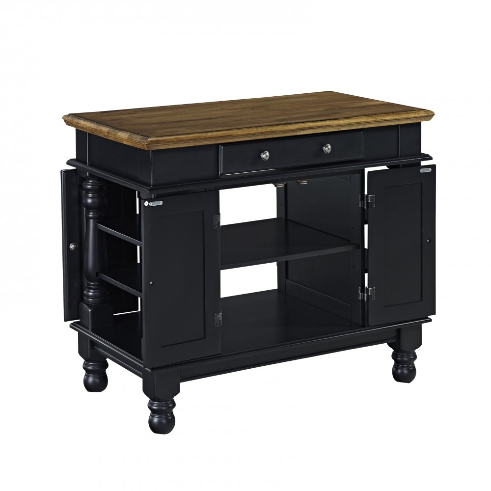 Americana Black Kitchen Island Homestyles
