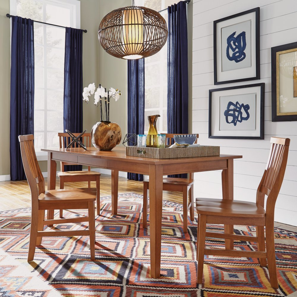 Home Styles Arts Crafts 24 In Counter Stool: Arts & Crafts 5PC Rectangular Dining Set Cottage Oak