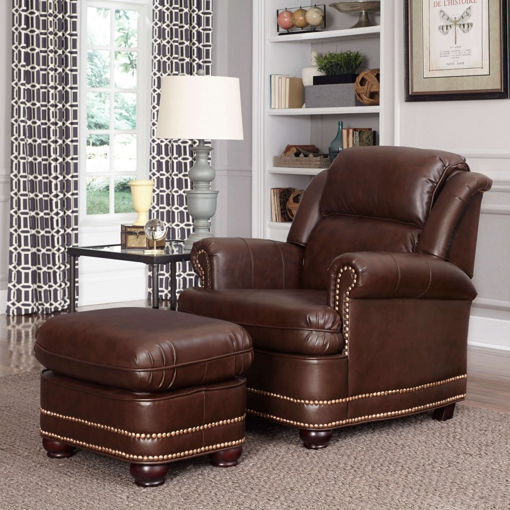 Beau Stationary Chair and Ottoman 5200-100