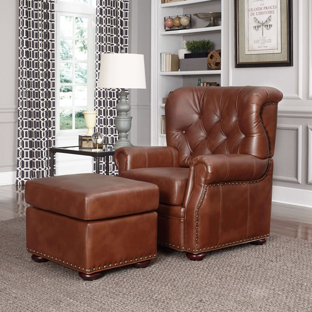 ... Miles Stationary Chair And Ottoman 5203 100 ...