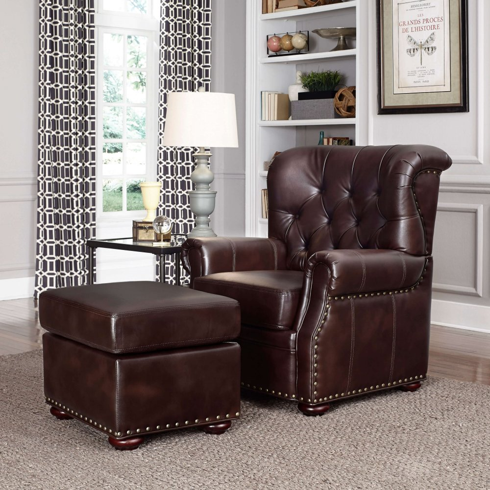 Melissa Stationary Chair and Ottoman 5204-100