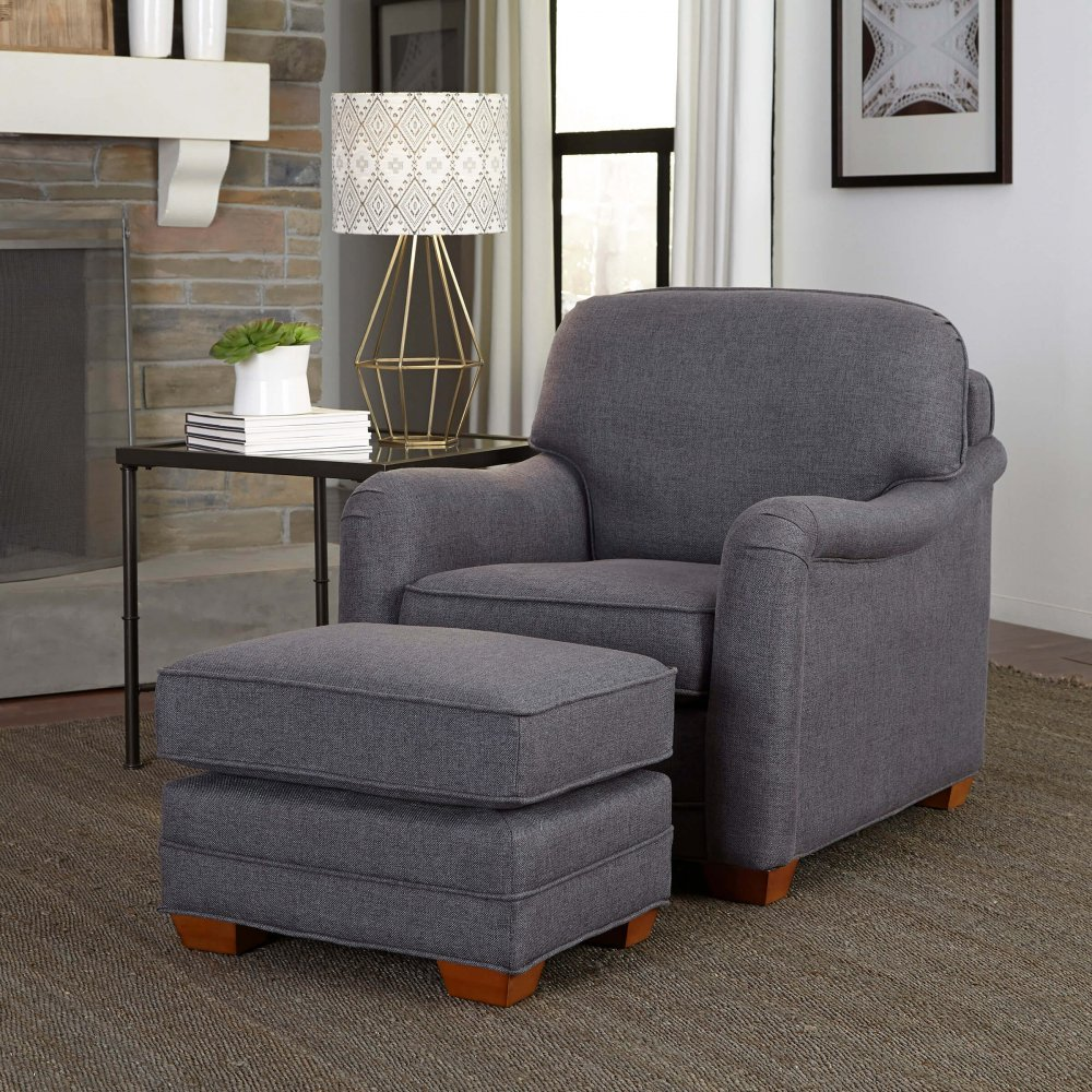 Magean Stationary Chair and Ottoman 5206-100