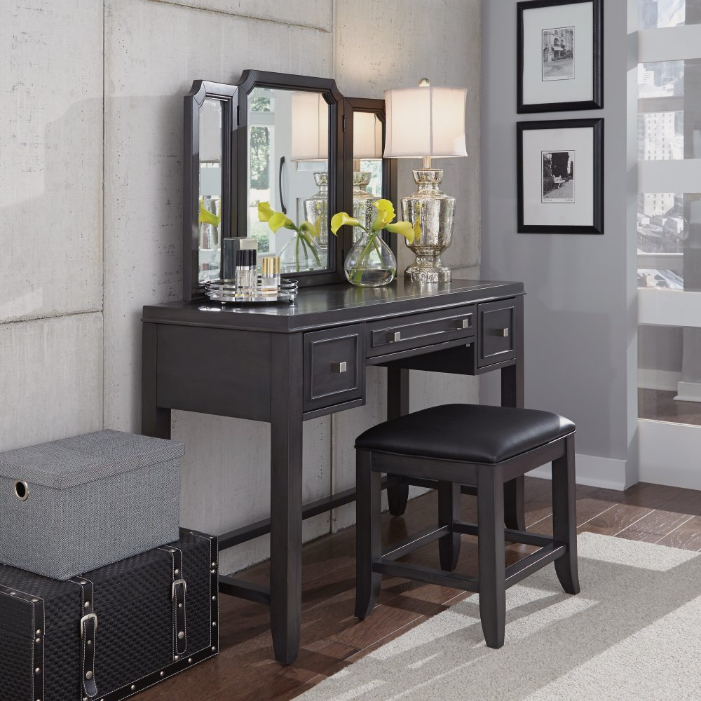 5436-72 Vanity with Mirror and Bench
