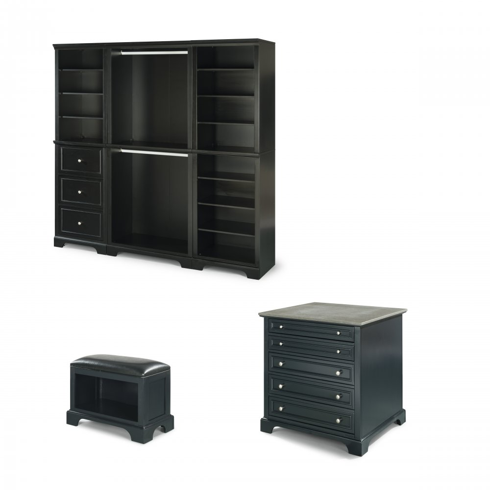 Outstanding Bedford 3Pc Storage Wall Unit With 36 Inch Storage Island Pdpeps Interior Chair Design Pdpepsorg