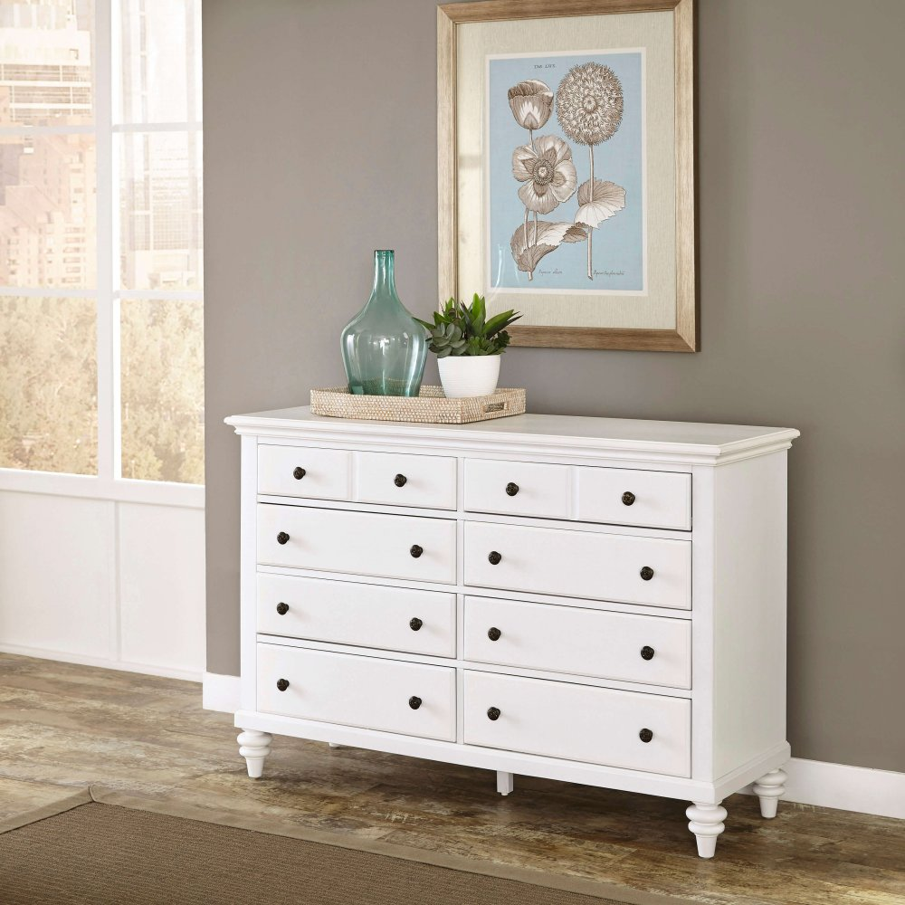 Bermuda Brushed White Dresser 5543-43
