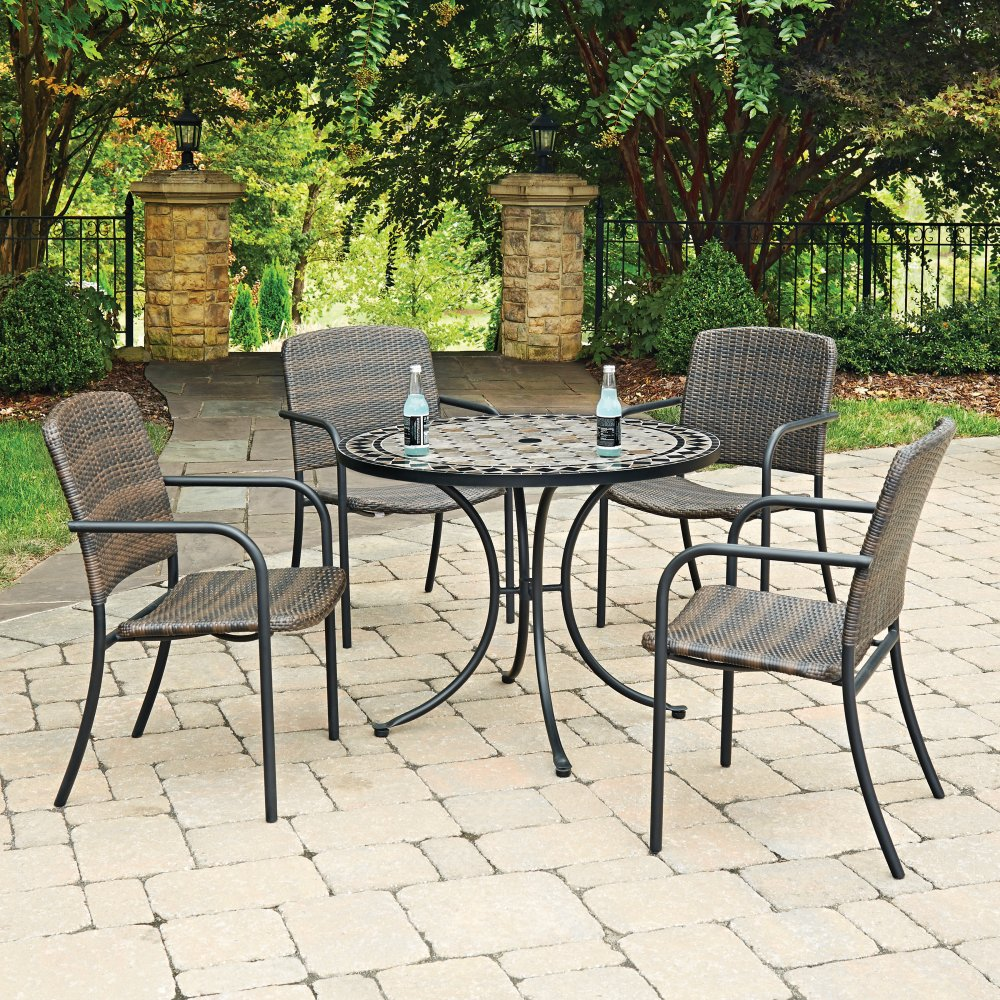 Marble Top 5 Pc Round Outdoor Dining Table amp 4 Chairs  : 5605 308ls from www.homestyles-furniture.com size 1000 x 1000 jpeg 354kB