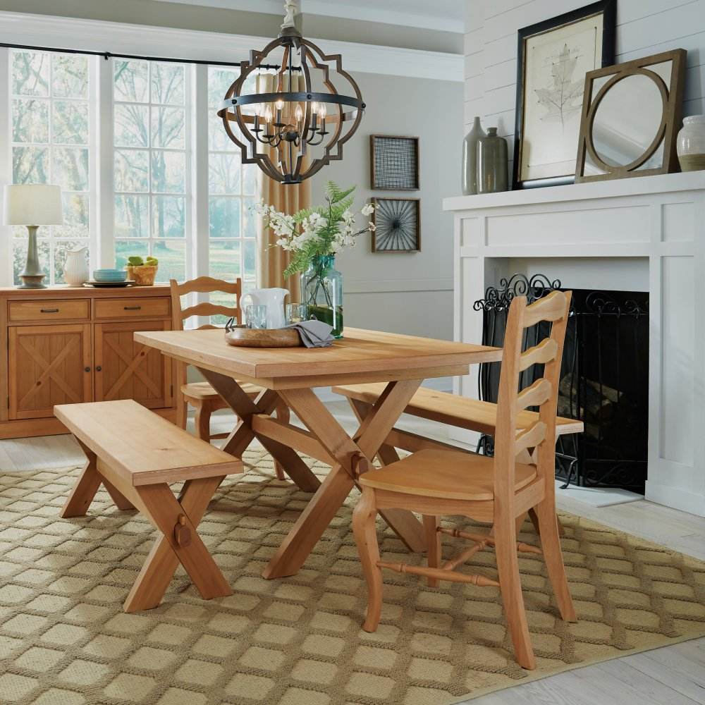 Country Lodge Dining Table 5524-31 shown as part of Country Lodge Dining Set 5524-3128