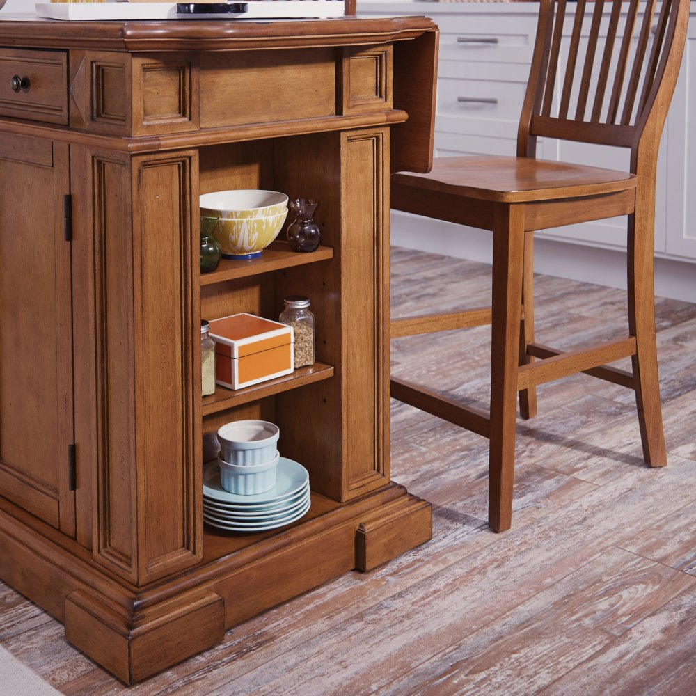 Americana Kitchen Island: Americana Kitchen Island And Stools Distressed Oak