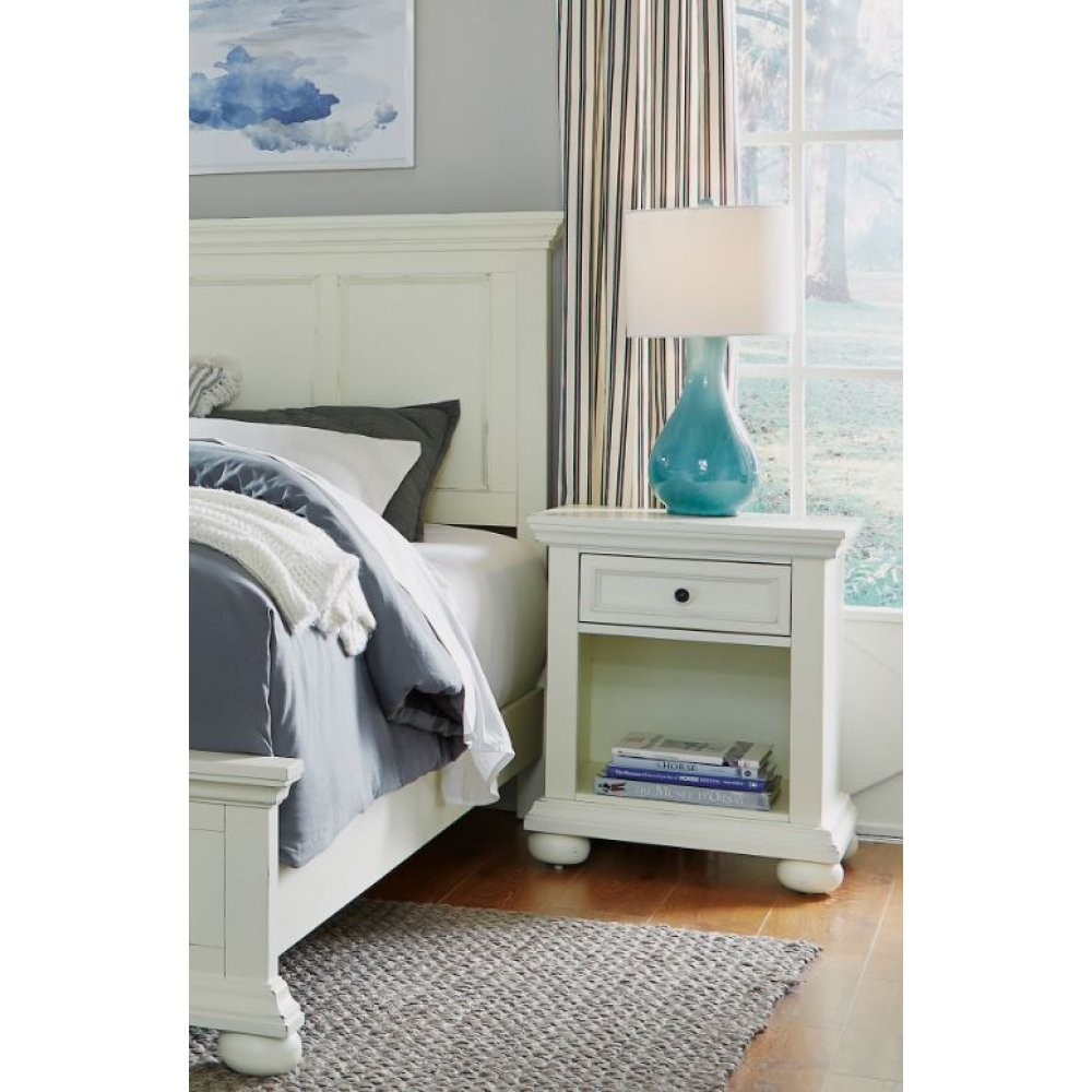 Dover Queen Bed 5427-500 and Night Stand 5427-42