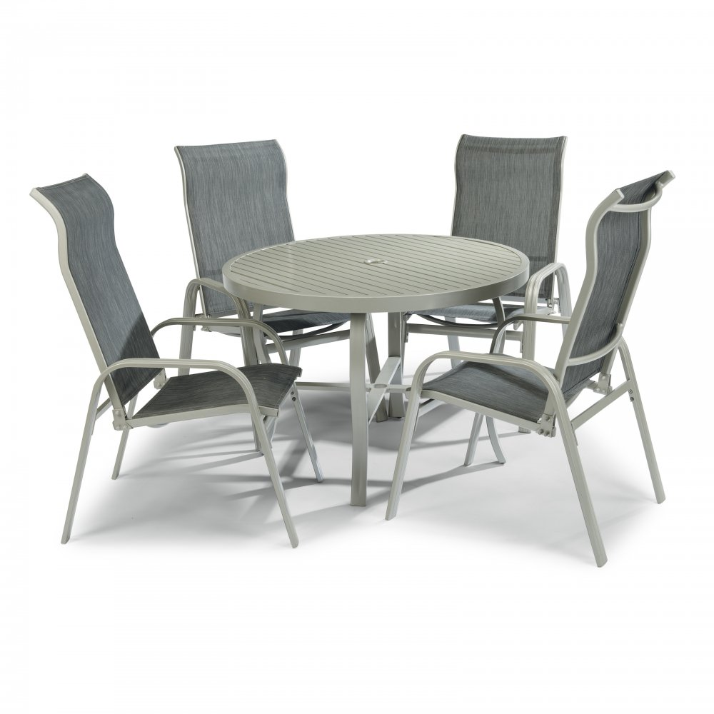 South Beach Outdoor Dining Set 5700-30816 (comes with umbrella and base)