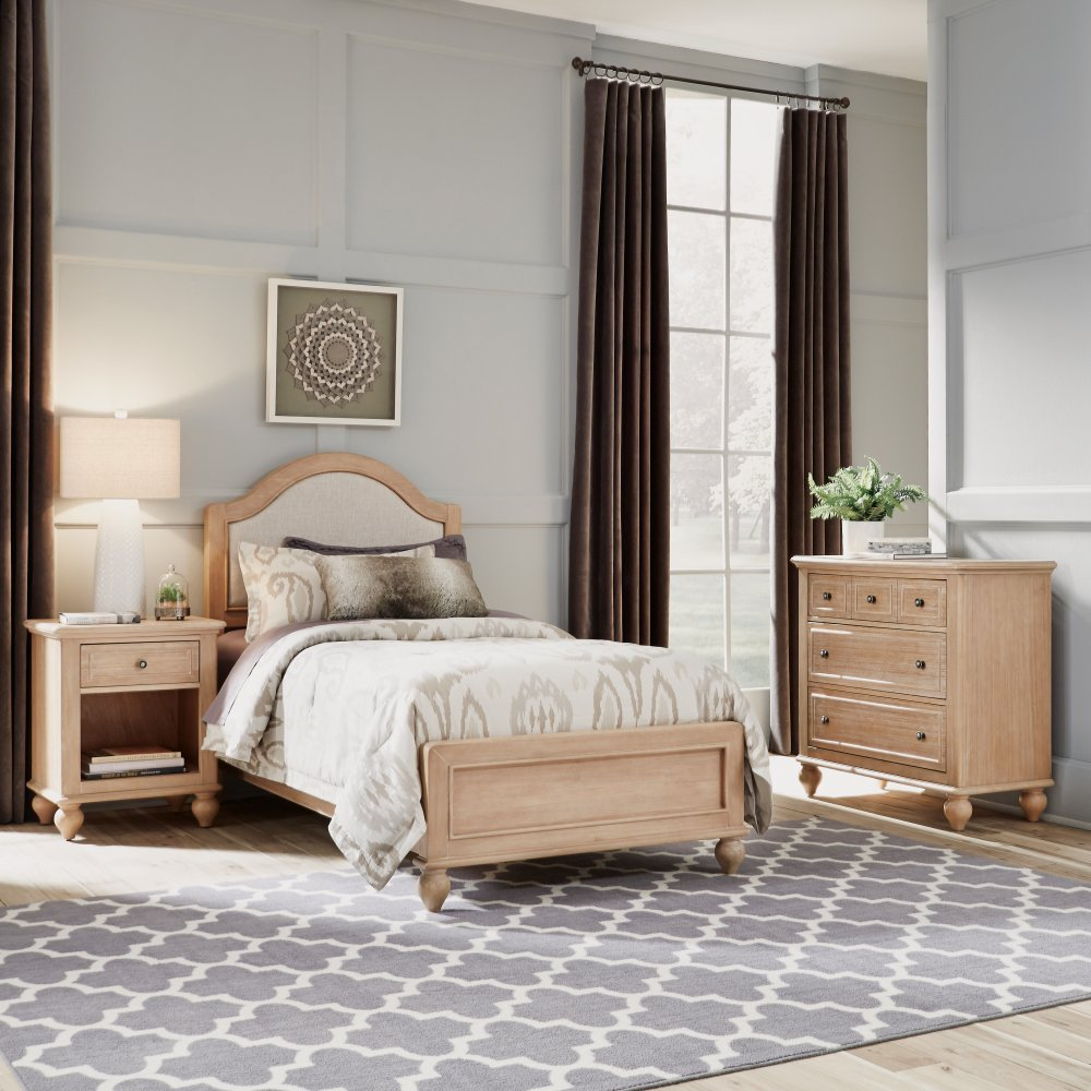 Cambridge Chest 5170-41 shown with Cambridge Twin Bed 5170-400 and Night Stand 5170-42