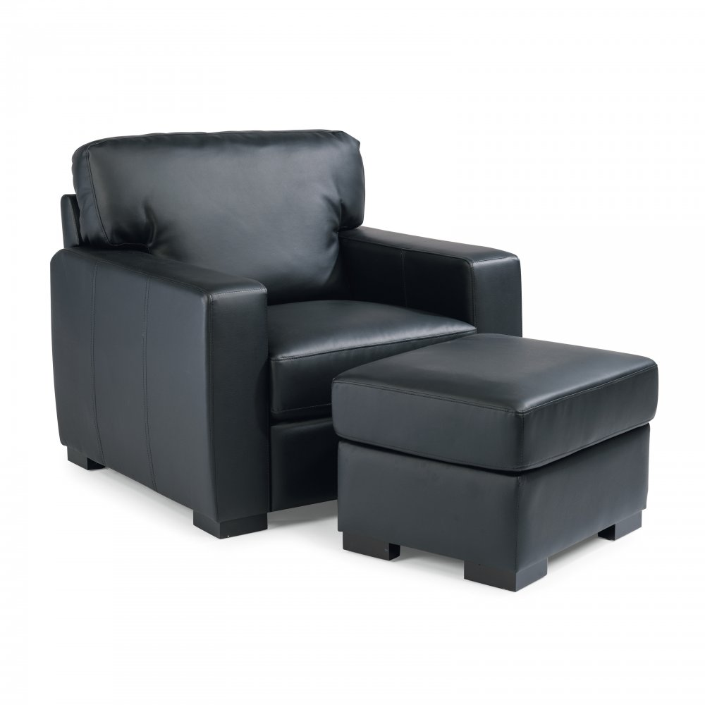 Alex Upholstered Chair and Ottoman Set 5220-100
