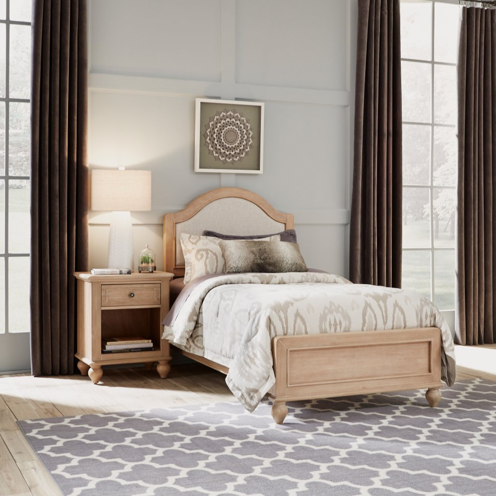 Cambridge Night Stand 5170-42 shown with Cambridge Twin Bed 5170-400