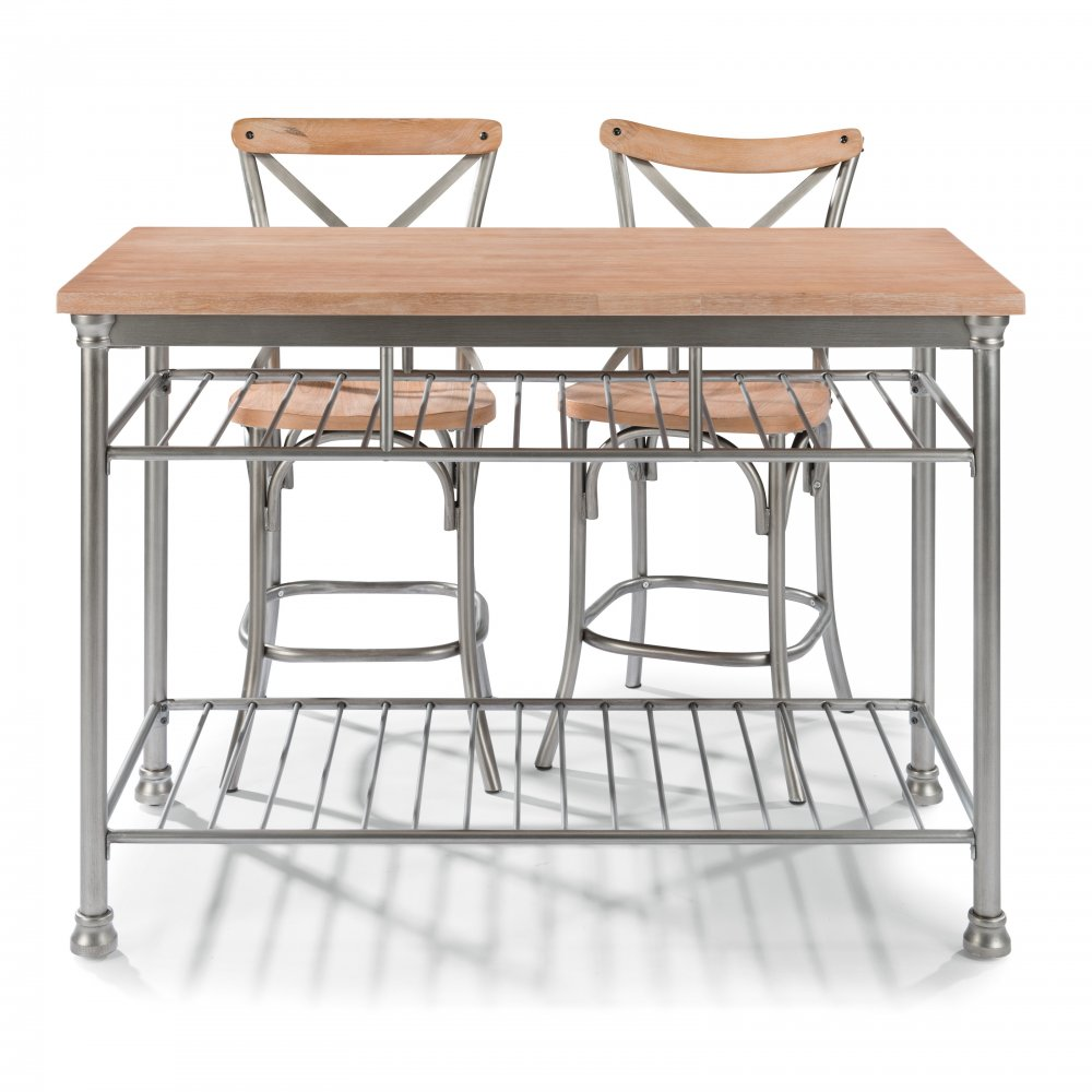 French Quarter Kitchen Island 5064-94 shown with French Quarter Counter Stools 5064-89, sold separately