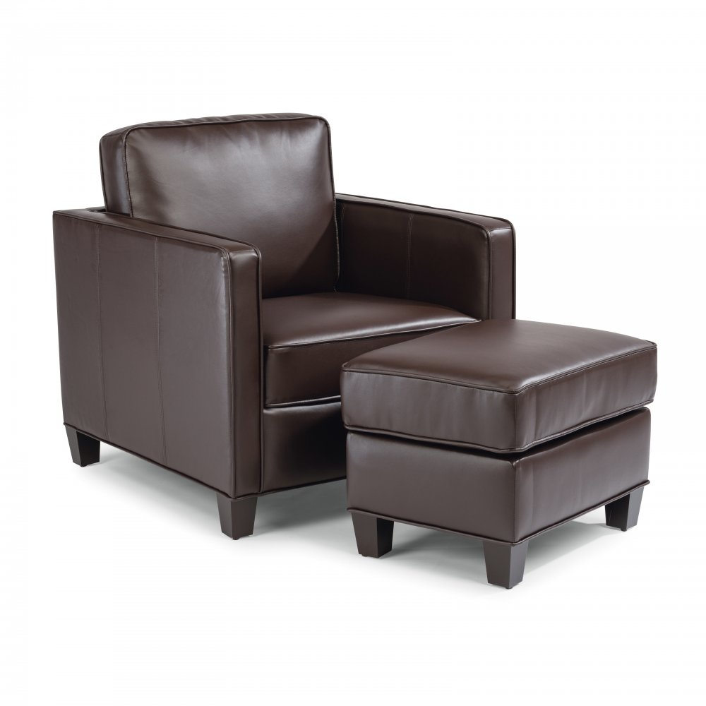 Bradley Upholstered Chair 5208-10 shown with Bradley Upholstered Ottoman 5208-90, sold separately
