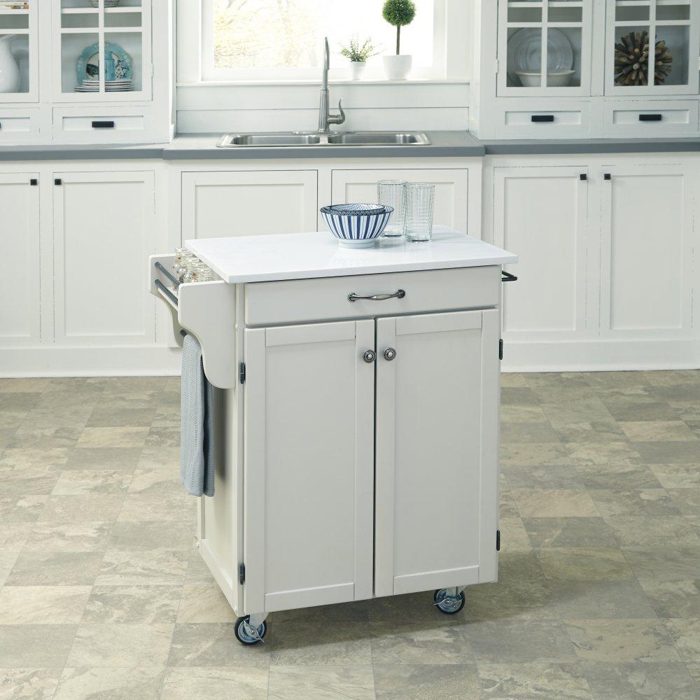 Cuisine Cart in White Finish 9001-0210