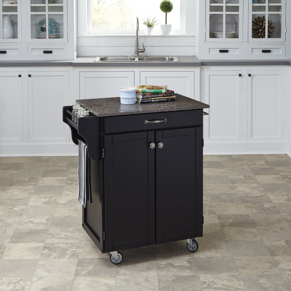 Cuisine Cart in Satin Black Finish 9001-0408