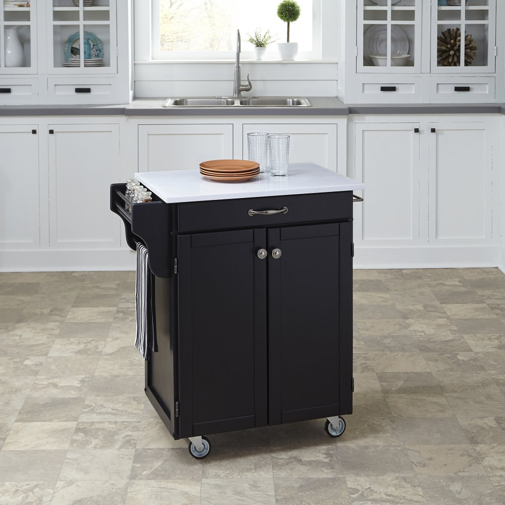 Cuisine Cart in Satin Black Finish 9001-0410