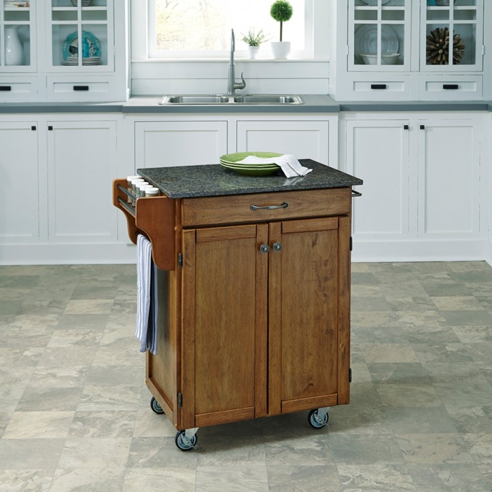 Cuisine Cart in Warm Oak Finish 9001-0608