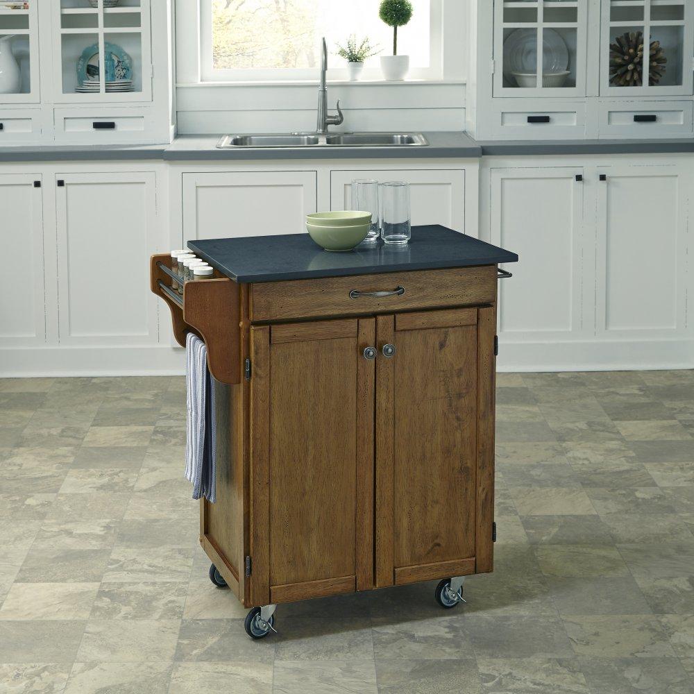 Cuisine Cart in Warm Oak Finish 9001-0609