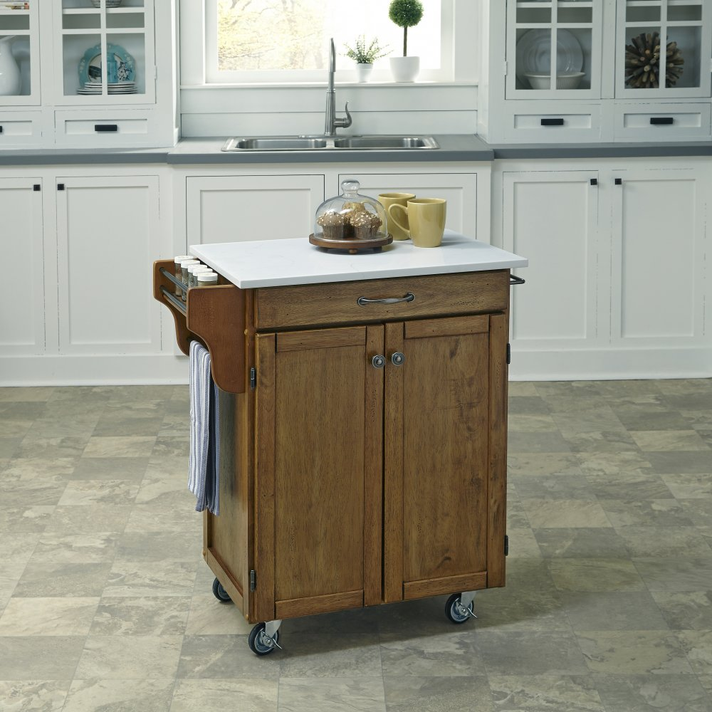 Cuisine Cart in Warm Oak Finish 9001-0610