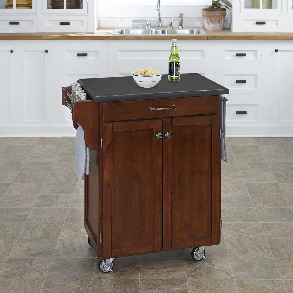 Cuisine Cart in Rustic Cherry Finish 9001-0709