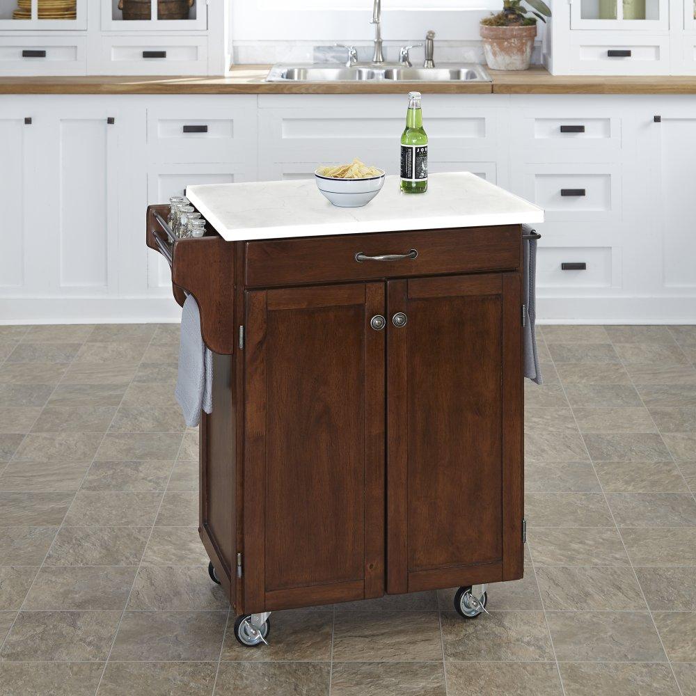 Cuisine Cart in Rustic Cherry Finish 9001-0710
