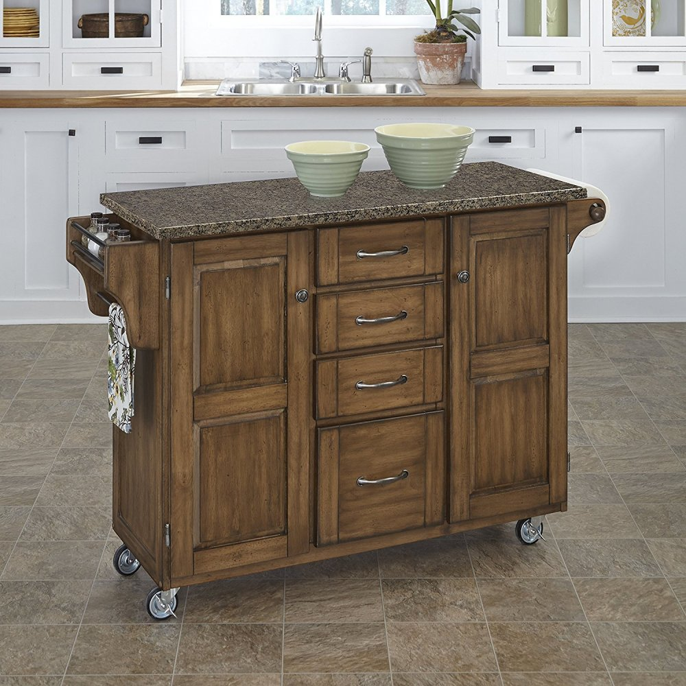 Create-a-Cart in Warm Oak Finish 9100-0608