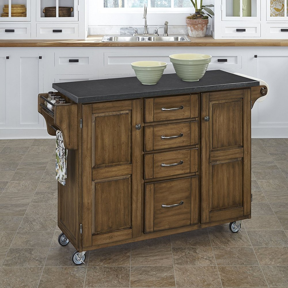 Create-a-Cart in Warm Oak Finish 9100-0609