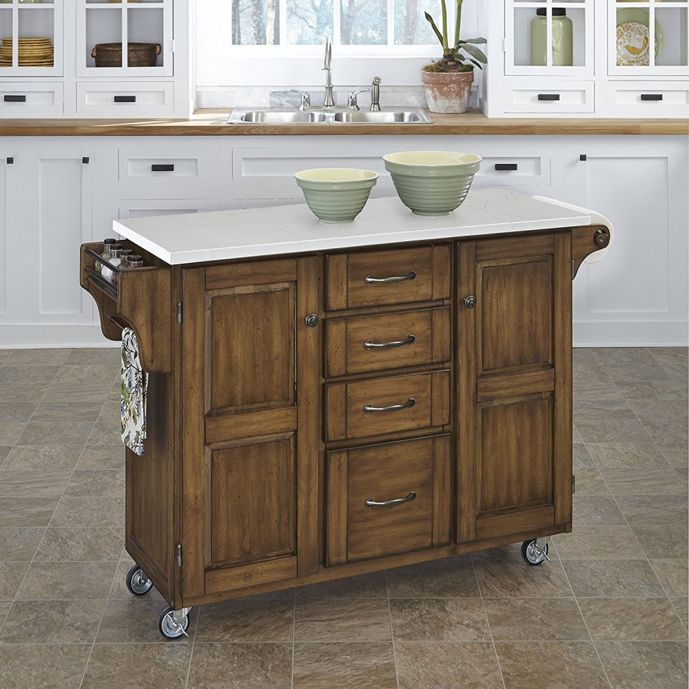 Create-a-Cart in Warm Oak Finish 9100-0610